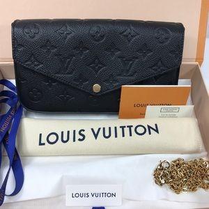 BNIB Louis Vuitton Pochette Felicie Empreinte Noir